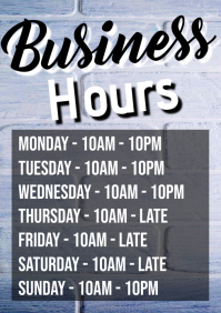 Business Hours A1 template