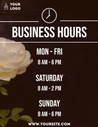 Business hours flower flyer info 1