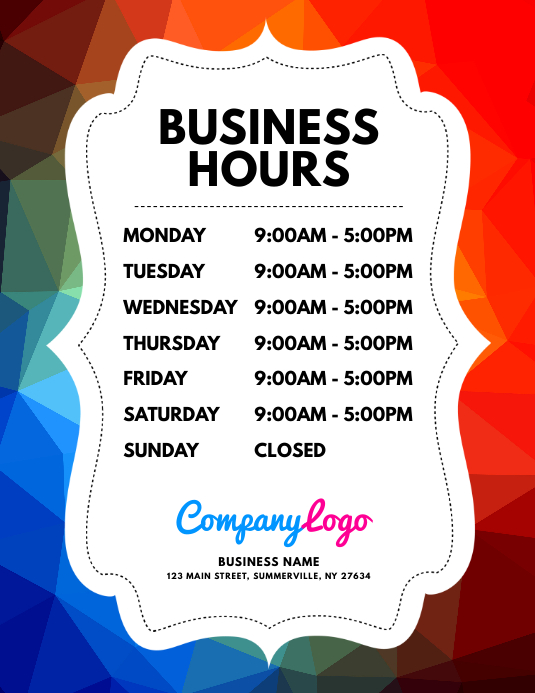 Business Hours Flyer