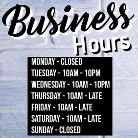 Business Hours Insta