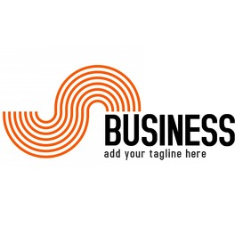 business icon black and orange logo