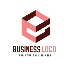 Business icon logo Red color