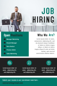 Business Job Hiring Poster Design Template