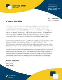 BUSINESS letterhead TEMPLATE Folheto (US Letter)