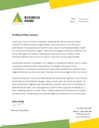 BUSINESS letterhead TEMPLATE Flyer (US Letter)