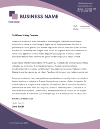 BUSINESS letterhead TEMPLATE Flyer (US Letter)