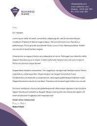 BUSINESS letterhead TEMPLATE Løbeseddel (US Letter)