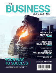 Business Magazine Cover Template Flyer (US Letter)
