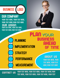 Business Management Planning Strategy Flyer Poster