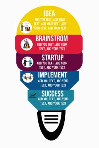 Business management startup teamwork infographic chart
