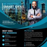 business marketing agency flyer Cuadrado (1:1) template