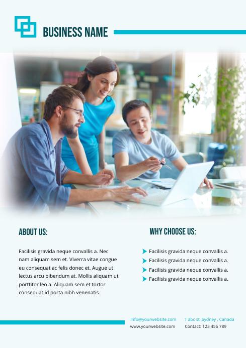 BUSINESS MARKETING flyer template A4