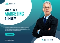 Business Marketing Postcard Template Postal