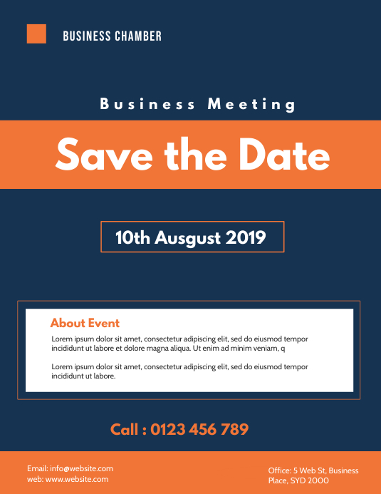 business meeting flyer template