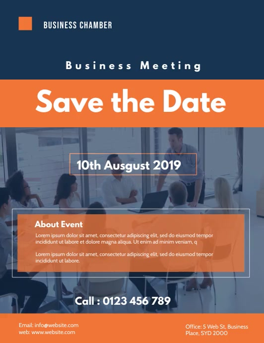 business meeting flyer video template