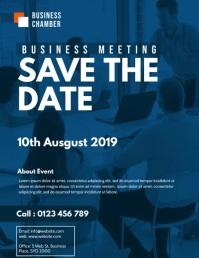 business meeting flyer video template Folheto (US Letter)