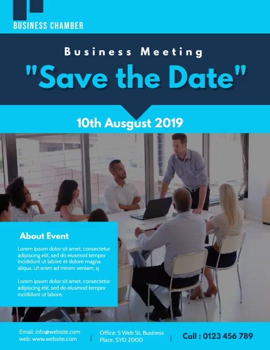 business meeting flyer video template Pamflet (VSA Brief)