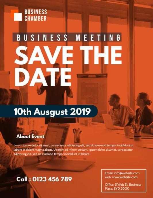 business meeting flyer video template