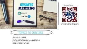 Business Meeting Social Media Banner Facebook Cover Video (16:9) template