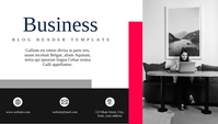 business modern blog header template 博客标题