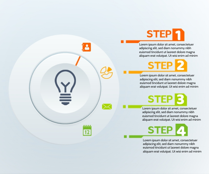 Business Modern New infographic concept Large Rectangle template
