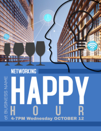 Business Networking Happy Hour Flyer Ad