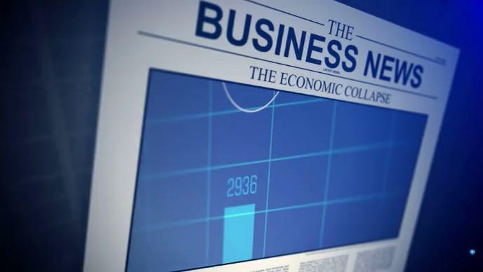 business news Miniatura de YouTube template