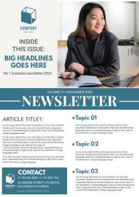 Business Newsletter Magazine Template A4