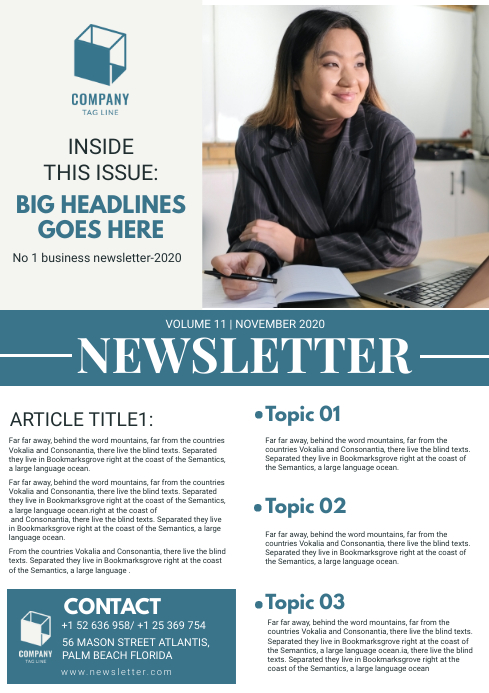 Business Newsletter Magazine Template