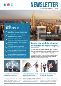 Business Newsletter Template A4