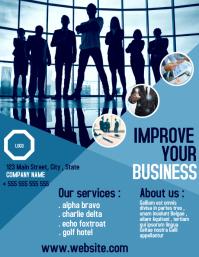 Business office flyer advertisement