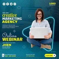 Business Online Webinars Pos Instagram template