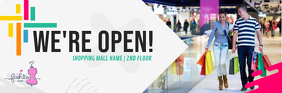 Business Opening Announcement Email Header ส่วนหัวอีเมล template