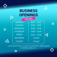 BUSINESS OPENING HOURS Instagram Post template