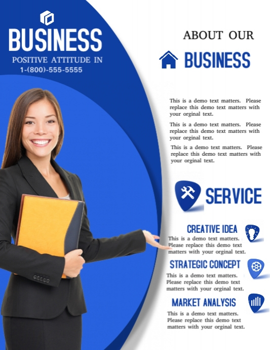 business pamphlet template postermywall