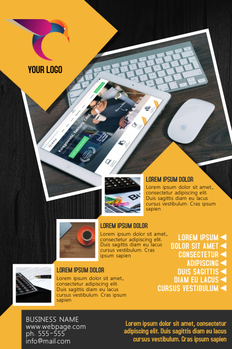Business Flyer Template Poster