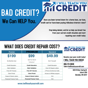 Credit Repair Letter Templates