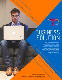 Business Flyer Folheto (US Letter) template