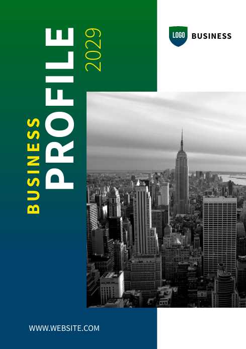 Business profile cover design A4 template