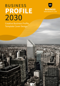 Business Profile Cover Template A4
