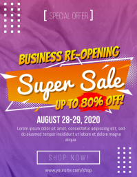 Business Re-Opening Super Sale Flyer