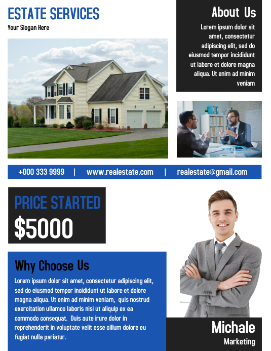 The Best Real Estate Simple Design Flyer Template