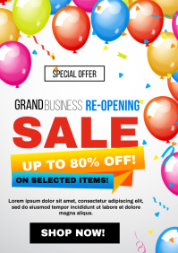 Business ReOpening Sale Flyer
