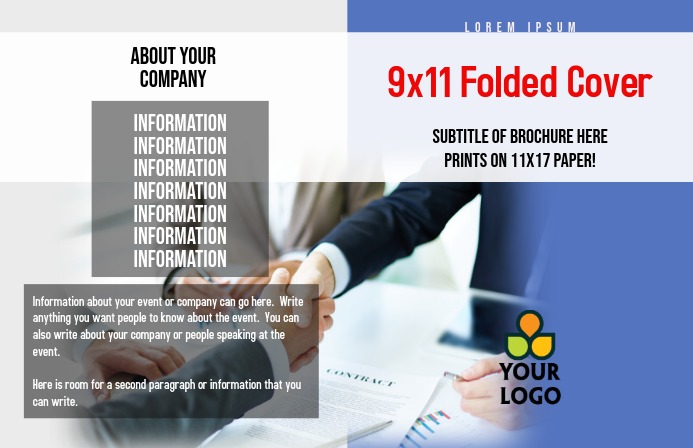 Business Report Cover Folder Tabloid template