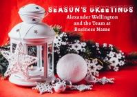 Business Season's Greeting Holiday Postcard template
