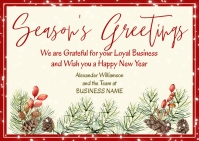 Business Season Greetings Postcard Postkort template