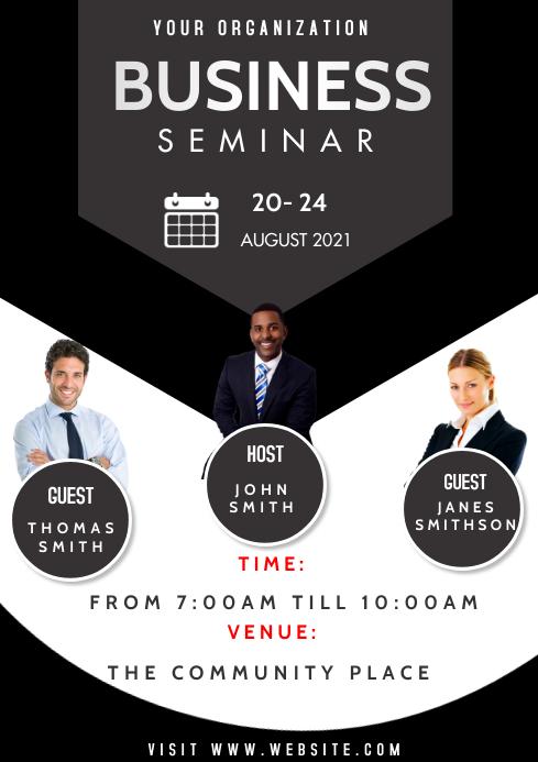 Business Seminar Flyer A3 template