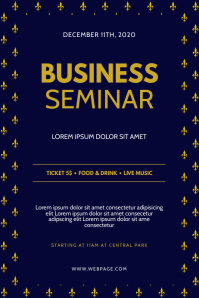 Business Seminar flyer design template