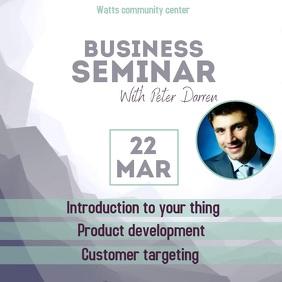 Business seminar video ad instagram Square (1:1) template