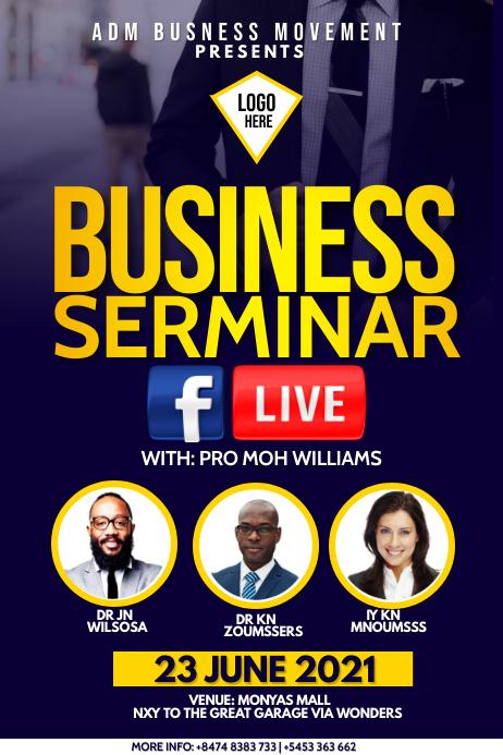 Business serminar Poster template
